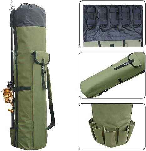 KOBWA Fishing Tackle Rod Holdall Bag Fishing Bag Thickening