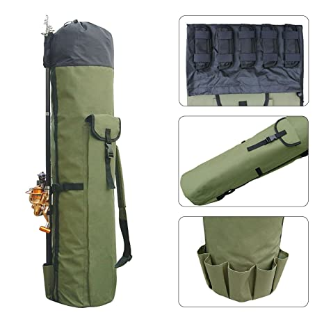 Fishing Bag Fishing Rod Pole Reel Case Carrier Holder Lures Tackle Storage Bags