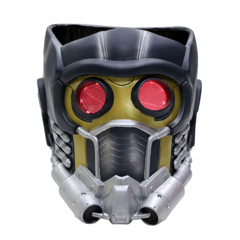 Guardians Maske Halloween Cosplay mit Glow Brille Erwachsene Helm Kostüm Mask PVC Painted Aktualisierte Version