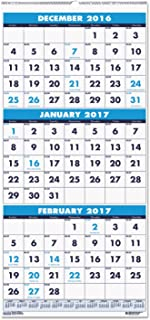 product image for HOD3646 - Recycled Three-Month Format Wall Calendar