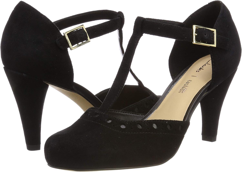 Espíritu Sympton alojamiento  Clarks Dalia Leah, Women's T-Bar, Black (Black Suede), 5.5 UK (39 EU):  Amazon.co.uk: Shoes & Bags