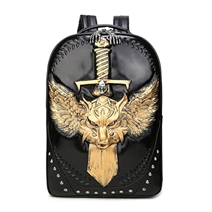 a9bf44fbcca8 Pattistore Punk Style 3D Animal Wolf Backpack School Bag Daypack Laptop Bag  Big Backpacks For Teen Girls Boys