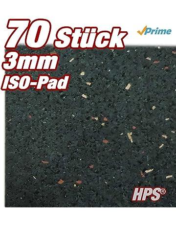 HPS - Almohadillas de granulado de caucho para construcciones en terrazas, 70 unidades, 3