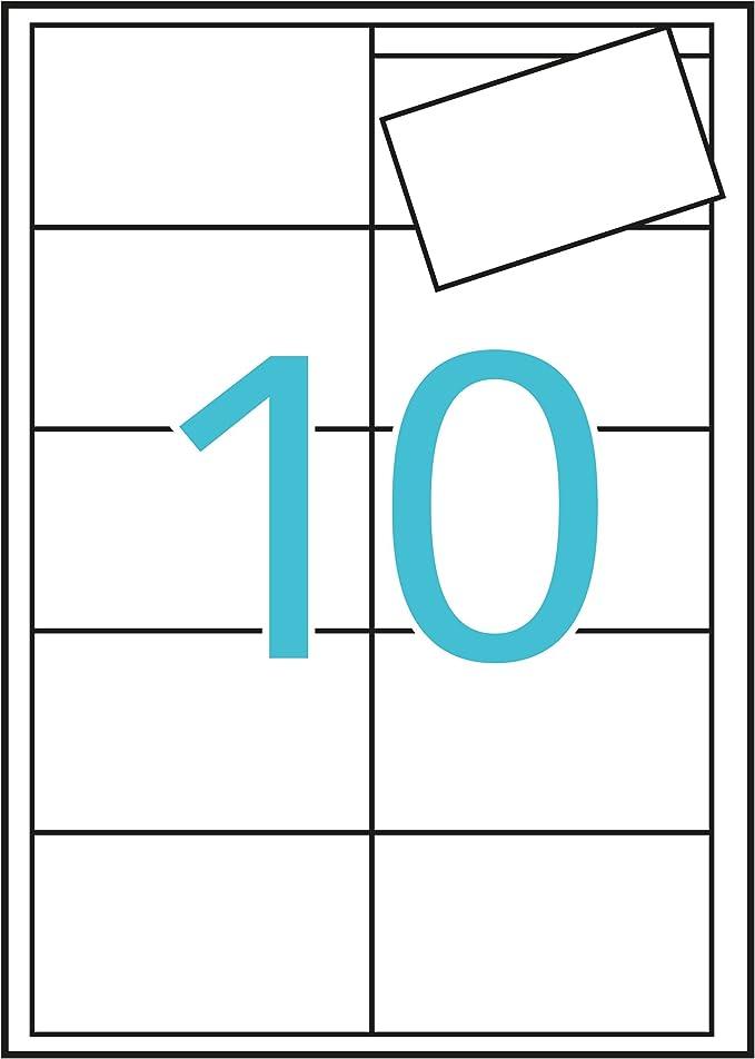 APLI 10609 - Tarjeta visita bordes lisos 200g 15 hojas: Amazon.es: Oficina y papelería