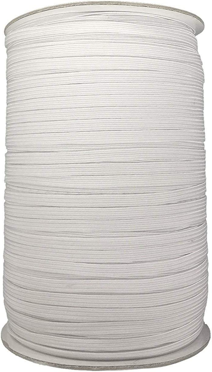 Trimming Shop 1m x 12mm White Flat Woven Elastic Band for Sewing Knitting Waistbands and Arts /& Craft