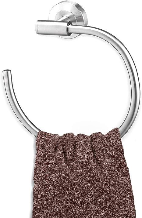 Kann Selbstklebend Oder Perforiert Sein Byoauo Handtuchhalter -11 Edelstahl Handtuchstange Wandmontage Handtuchring 22cm f/ür Bad//K/üche