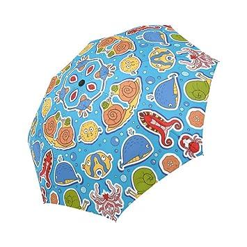 interestprint gato pintura resistente al viento automática Abrir y cerrar paraguas plegable, animales viaje compacto