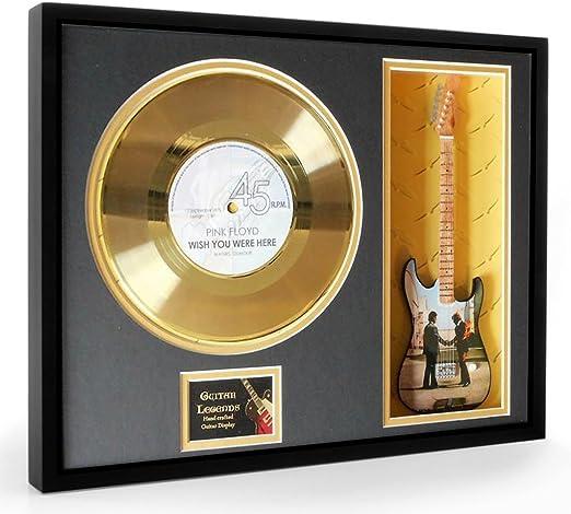 Pink Floyd Wish You Were Here Disco de oro & Guitarra miniatura ...