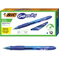 Deals on BIC RLC11-BLUE Gel-ocity Retractable Gel Pen 0.7mm 12-Ct