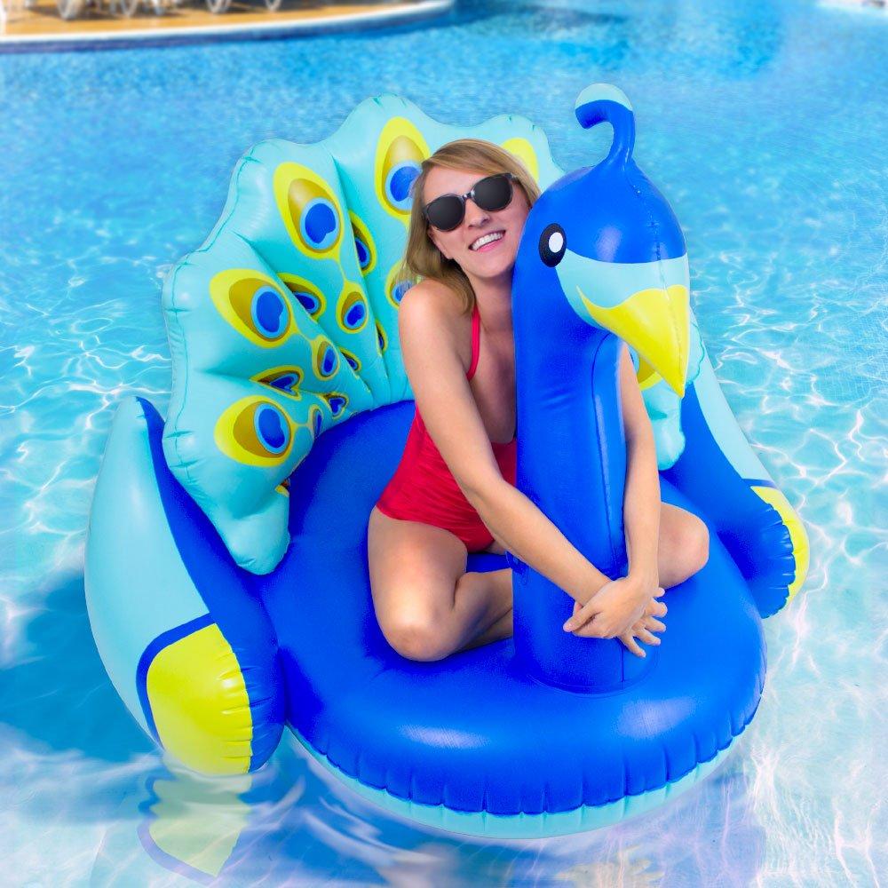 Swimline Giant Peacock Premium Bird Lounger for Swimming Pools Pool Float Robelle Industries Inc.Toys 90705M