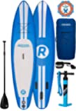 "iRocker Inflatable SPORT Stand Up Paddle Board 11' Long 30"" Wide 6"" Thick SUP Package"