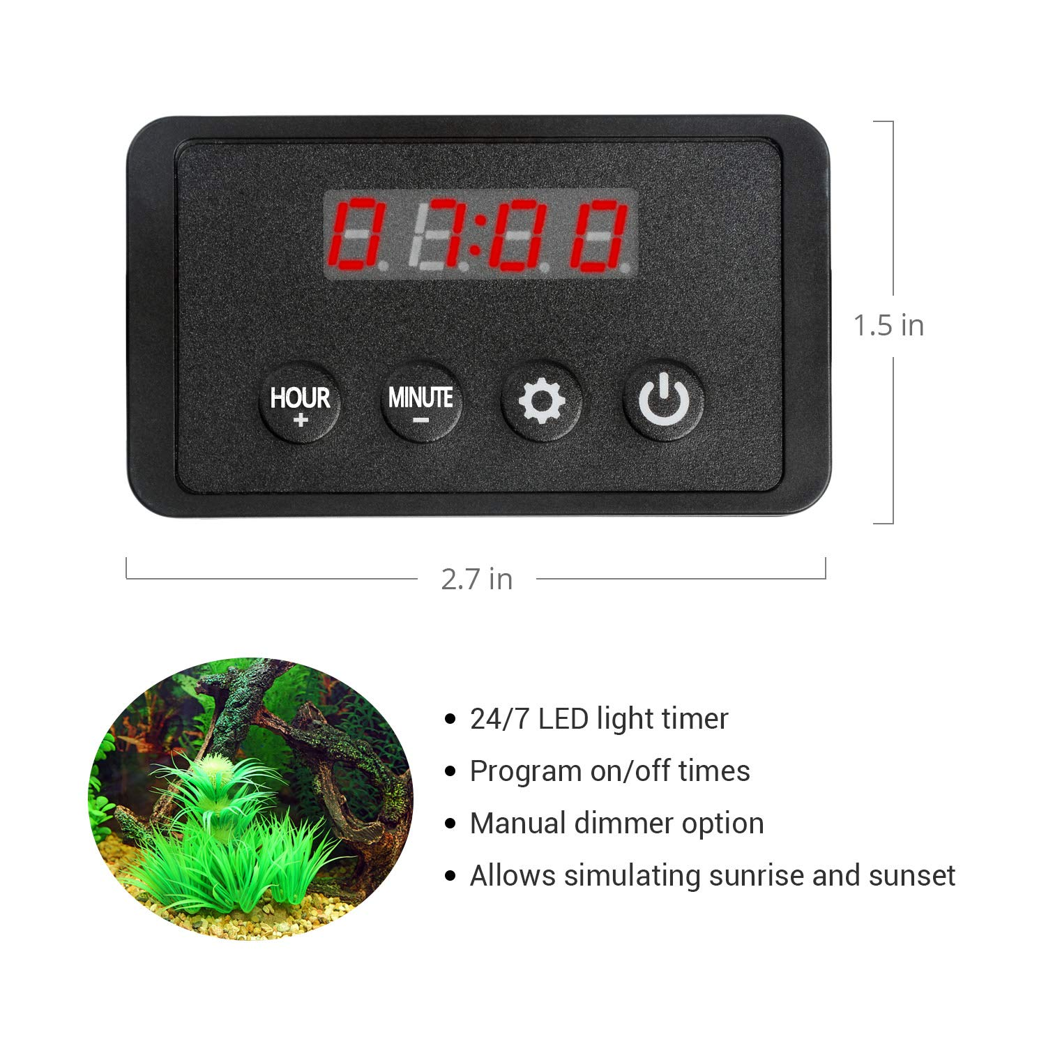Amazon.com : NICREW Single Channel LED Light Timer for Aquarium, LED Digital Dimmer ClassicLED, ClassicLED Plus, BrightLED and Other Lights with Standard ...
