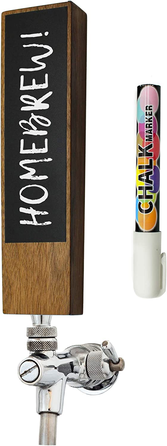 Chalkboard Beer Tap Handle For Homebrew Kegerators | Beer Tap Handles White Chalk Marker Included! | The Perfect Gift for Him | THE Tap Handle to never forget which beer you crafted again!