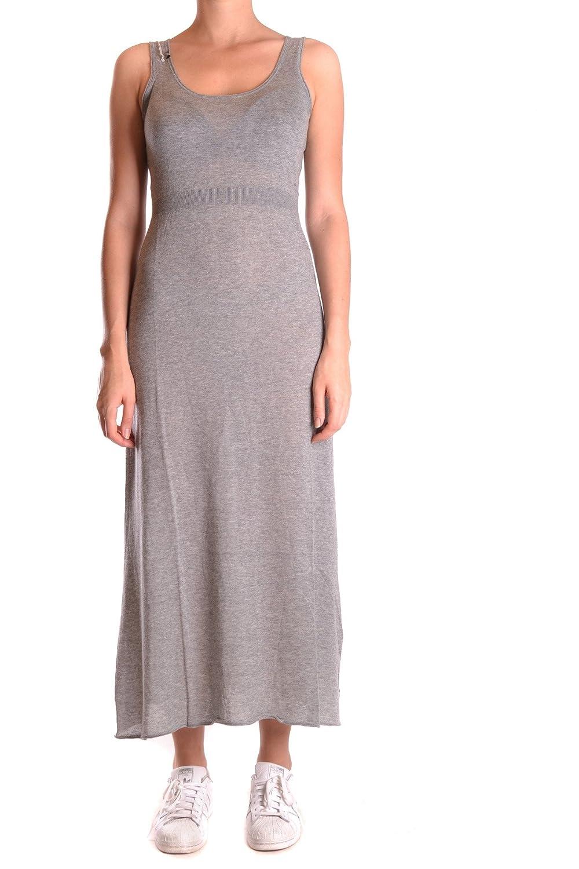 SUN 68 WOMEN'S MCBI286133O GREY COTTON DRESS