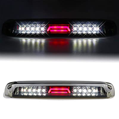 for 1999-2007 Chevy Chevrolet Silverado/GMC Sierra 1500 2500 3500 HD LED Third 3rd Brake Light Cargo Lamp High Mount Stop Light Chrome Housing Smoke Lens: Automotive