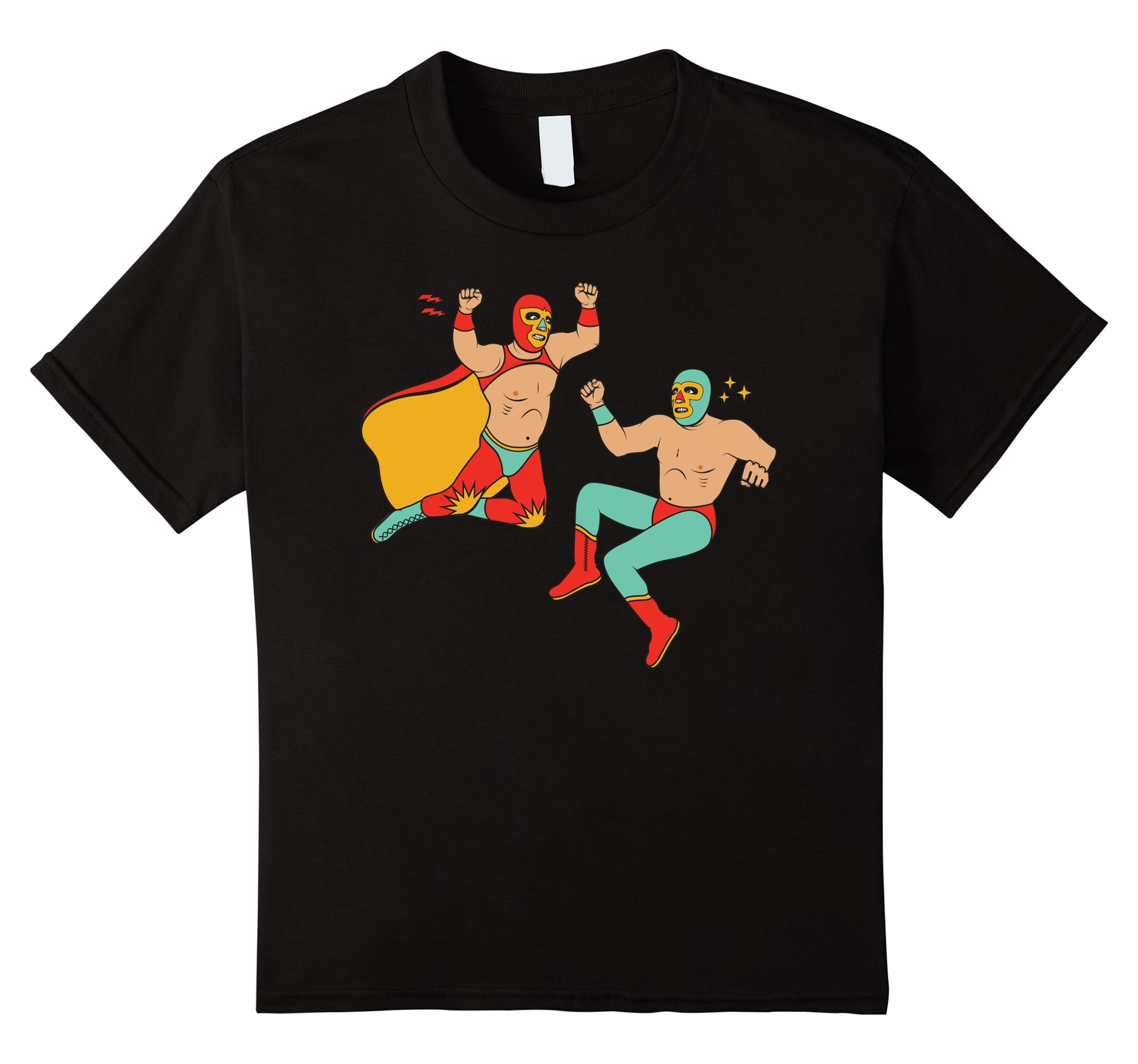 Kids Lucha Libre Tshirt - Luchador - Mexican Wrestling Mask Tee 8 Black by Lucha Libre