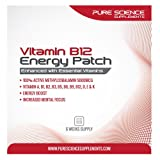 Pure Science Transdermal Vitamin B12 Patches 5000mcg Methylcobalamin enhanced with Essential Vitamins B3, B5, B6, B2, B1, B9, E, A, K and D for Energy, Mental Clarity and Well Being - 6 Weeks Supply