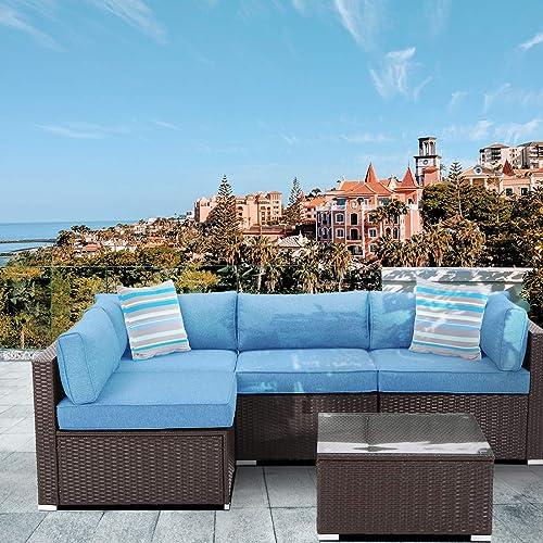 HOMPUS Outdoor 5 Pieces Patio Sofa Set