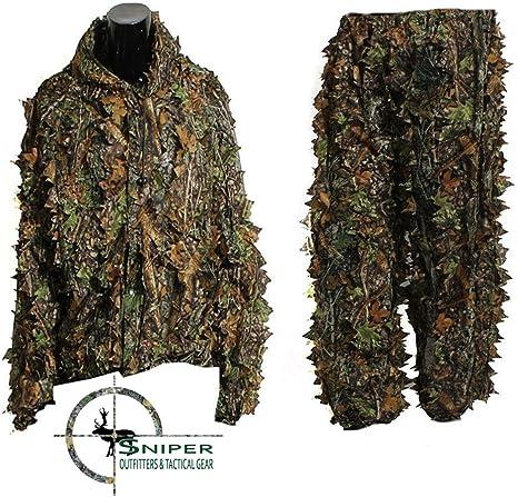 Sniper Outfitters XL trajes de Ghillie 3d hoja traje camuflaje para caza. – Traje de para hombre