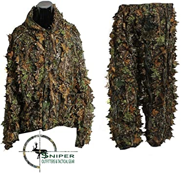 Amazon.com: Sniper Outfitters XL Ghillie trajes 3d Leafy ...