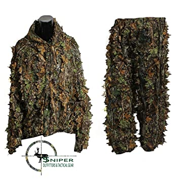 Sniper Outfitters XL trajes de Ghillie 3d hoja traje camuflaje ...