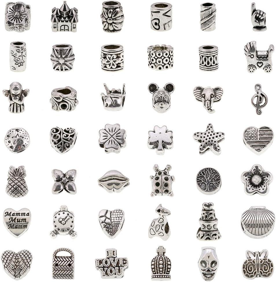 Sterling Silver Mio Memento Dangle Letter Q Bead Slide Charm