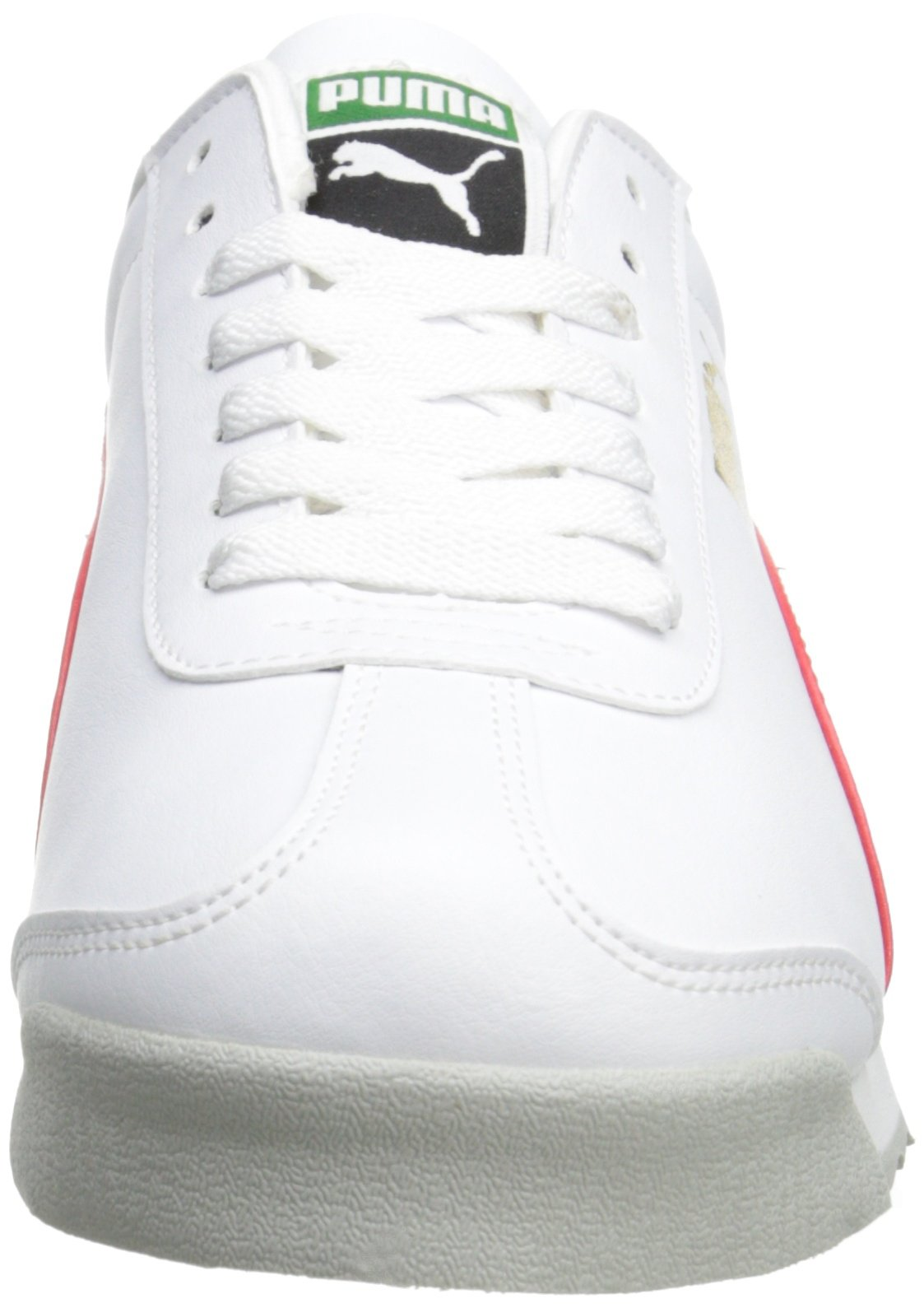 PUMA Men's Roma Basic Fashion Sneaker, White/High Risk Red/White - 9 D(M) US by PUMA (Image #4)