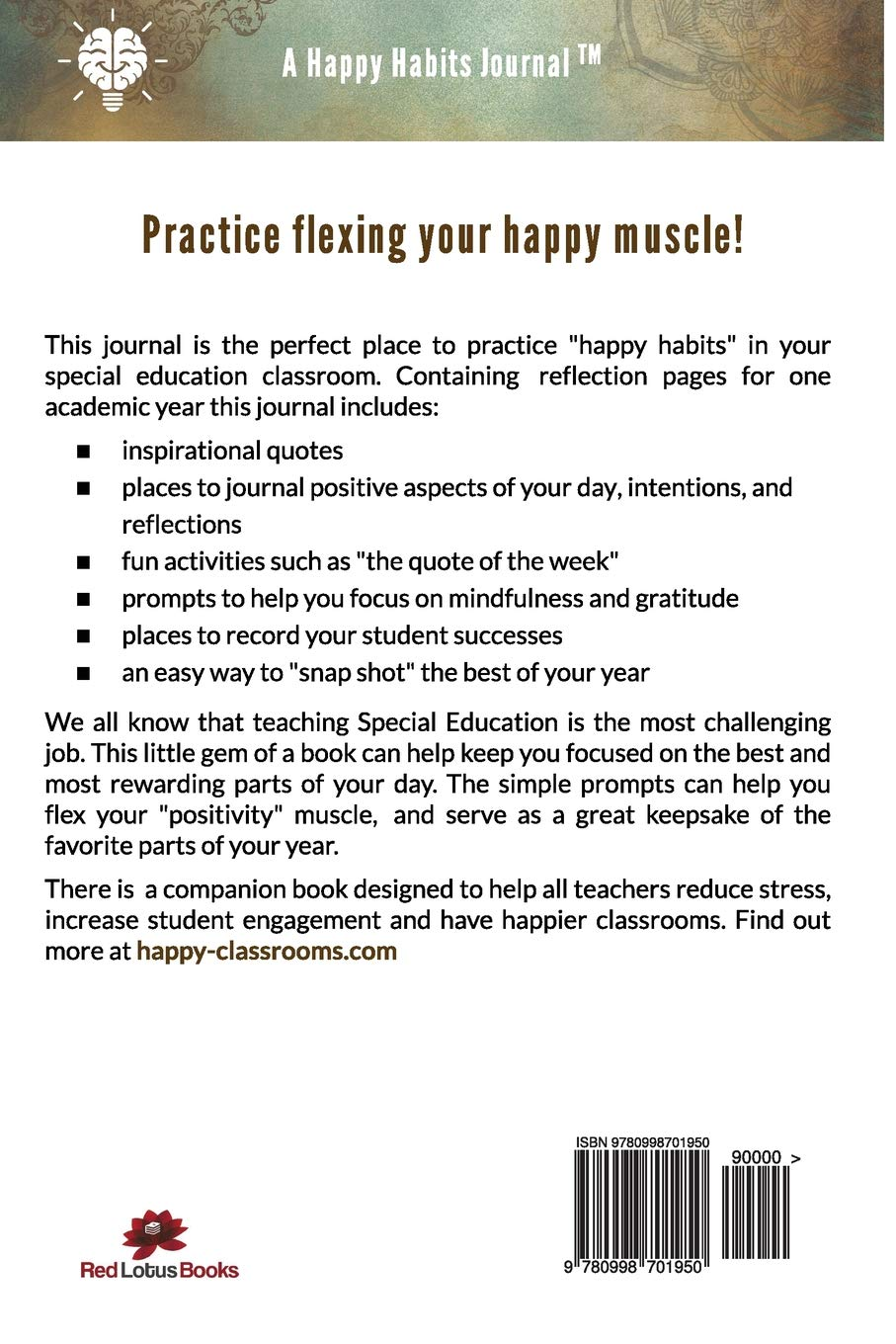 Positive Mindset Journal for Special Education Teachers: A