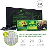 "Growerology Waterproof Seedling Heat Mat for Seed Germination, Hydroponics and Plant Propagation - MET Certified Plant Heating Pad for Indoor and Outdoor Home Gardening Seed Starter Kit (10"" x 20.75"")"