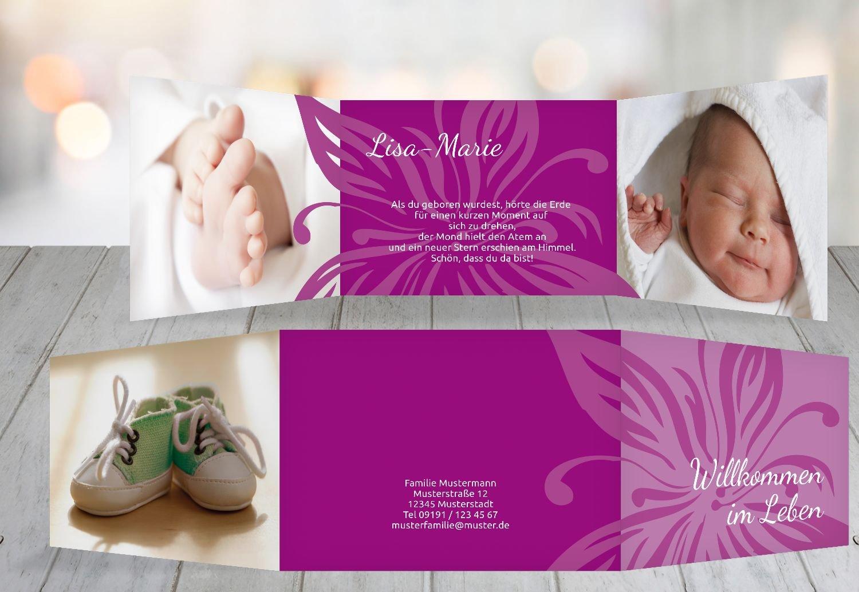 Kartenparadies Geburtskarte Babykarte Blaume, hochwertige Babykarte Babykarte Babykarte zur Geburt inklusive Umschläge   20 Karten - (Format  148x105 mm) Farbe  DunkelGrün B01MRBYA7N | Am wirtschaftlichsten  | Sale Online Shop  | Erste Qualität  c2534a