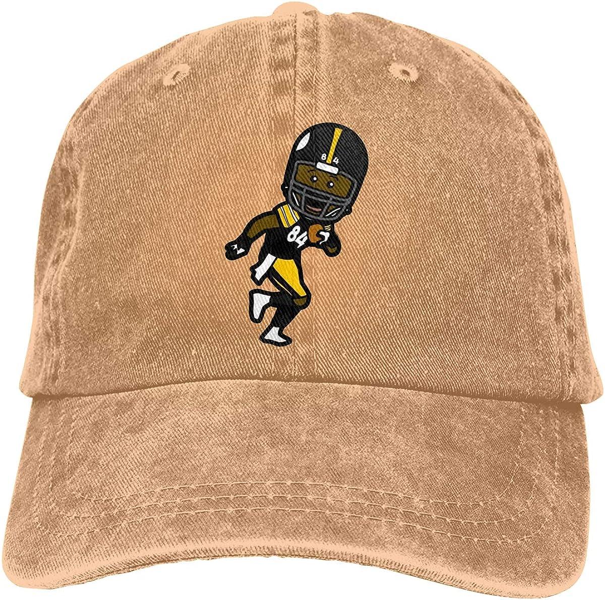 DeniCar Unisex Adjustable Baseball Caps Antonio-Brown-Funny-Face Cowboy Skull Cap