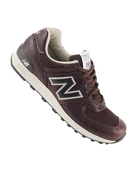 new balance uomo pelle marrone