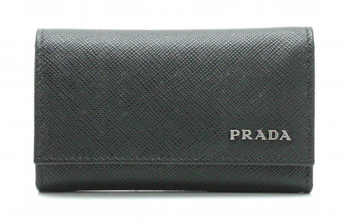 [プラダ] PRADA サフィアーノ 6連キーケース レザー 黒 NERO ブラック 2PG222[中古]   B07BBFB76J