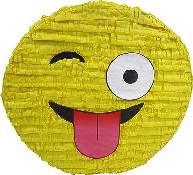 Amazon.com: Wink Emoji Piñata, diseño de fiesta, Juego ...