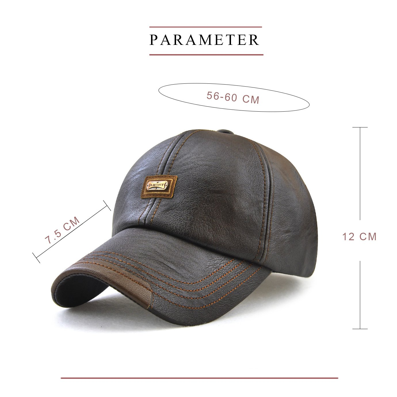 f997199cce5139 VICWARM Men's Faux Leather Baseball cap Adjustable Winter and Autumn PU  Leather Sports Hat (COFFEE)