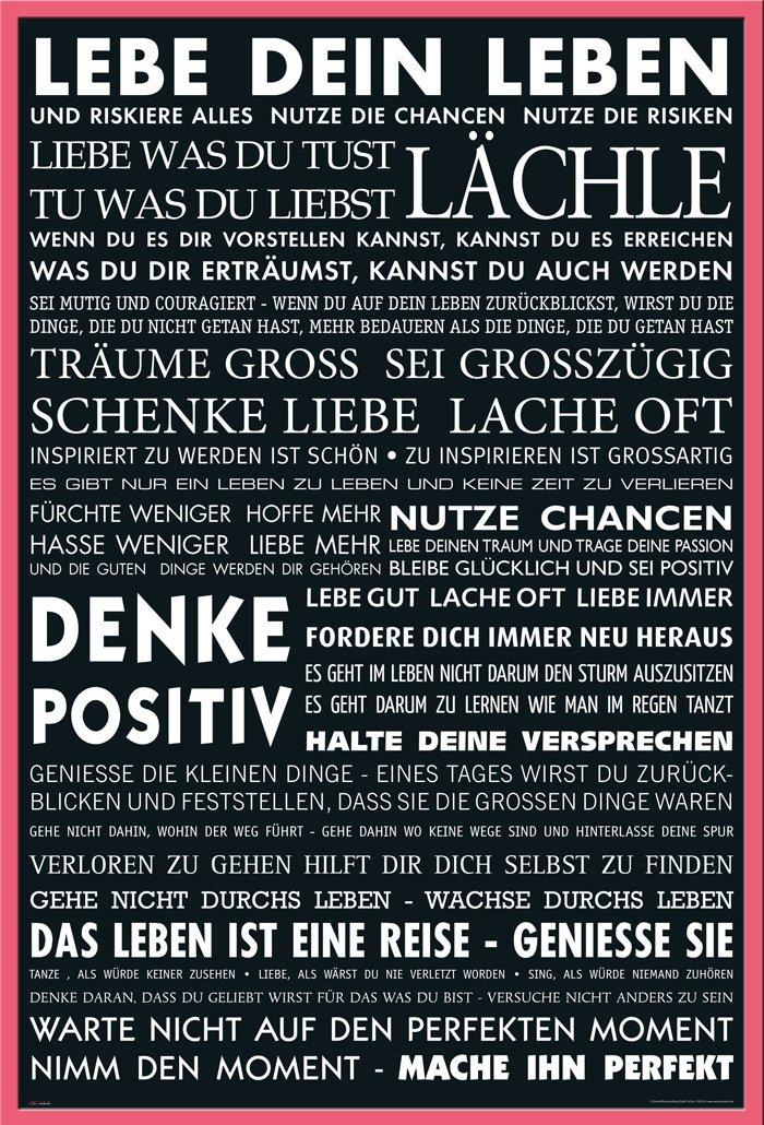 Motivational Lebe Dein Leben Schwarz Zitate Spruche Motivations