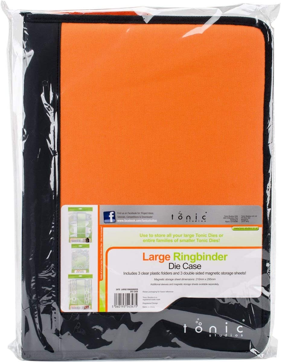 Tonic Studios – Carpeta de cartón tamaño grande Die color negro y naranja: Amazon.es: Juguetes y juegos