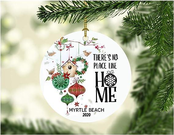Myrtle Beach Christmas 2020 Amazon.com: Merry Christmas Ornaments Xmas Decoration for Home