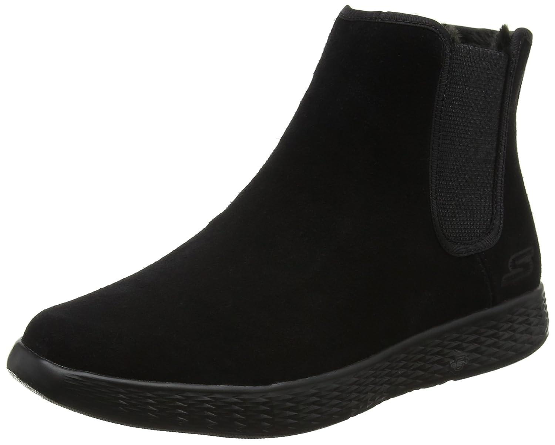 Skechers Damen on-The-Go Glide Chelsea Boots, Schwarz  35 EU|Schwarz (Black)