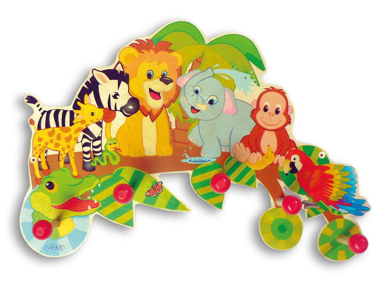 Hess-Spielzeug 30305 - Garderobe Dschungel aus Holz, ca. 40 x 24 cm ...