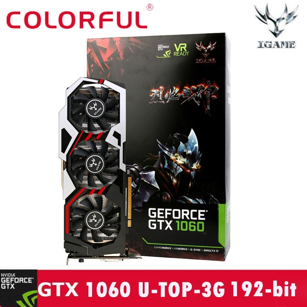 Chinaware Colorful GTX1060 U-3GD5 TOP1594-1809/8008MHz 192bit Gaming Video Graphics Card, Professional Game Equipment
