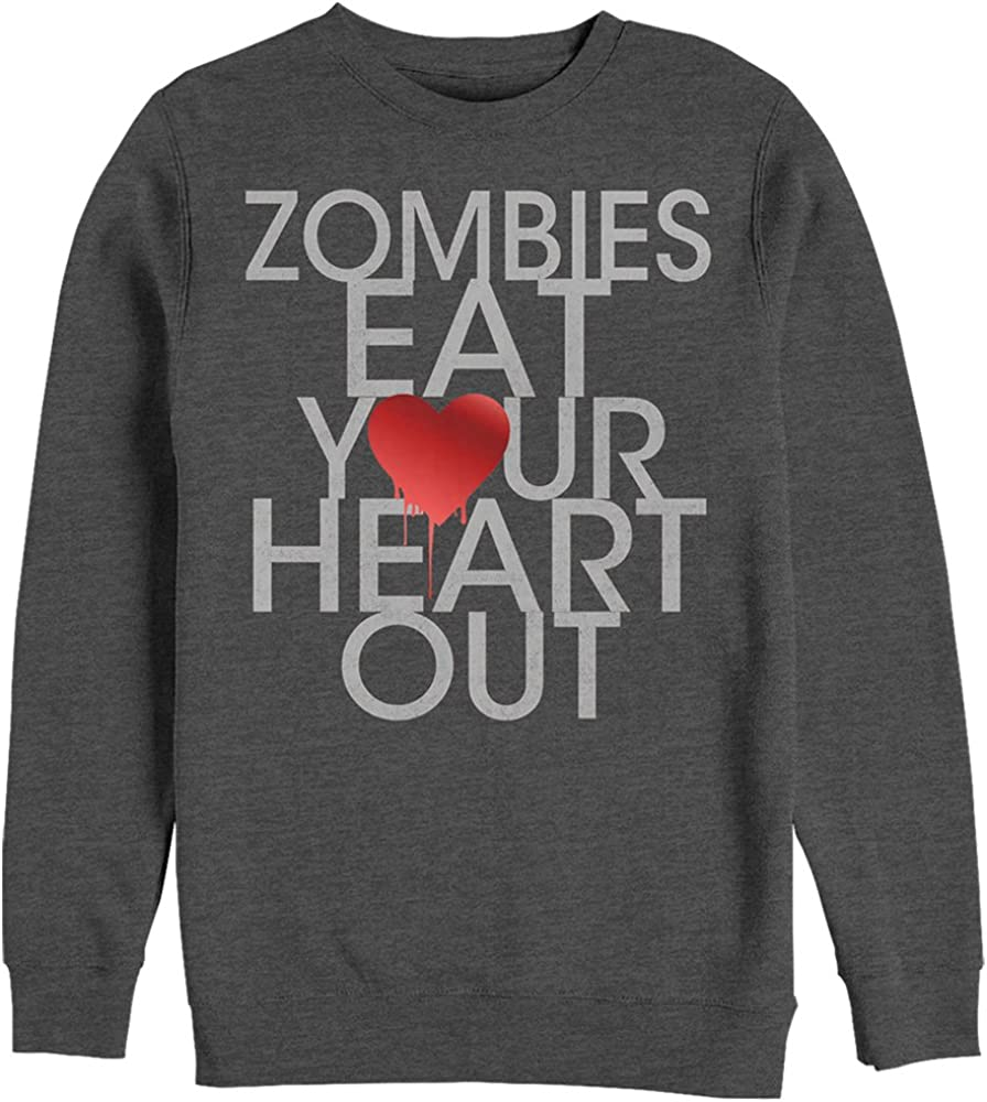 Chin Up Womens Halloween Zombies Eat Heart Out Sweatshirt