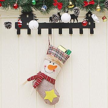 YOLE Bolsa De Caramelo De Decoración De Navidad, Calcetines del Bolso del Caramelo Bolsa De Almacenamiento De Caramelo De Navidad Calcetines De Navidad ...