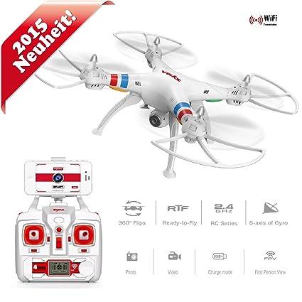Syma dron cuadricóptero FPV Quadcopter con cámara HD Original x8 W ...