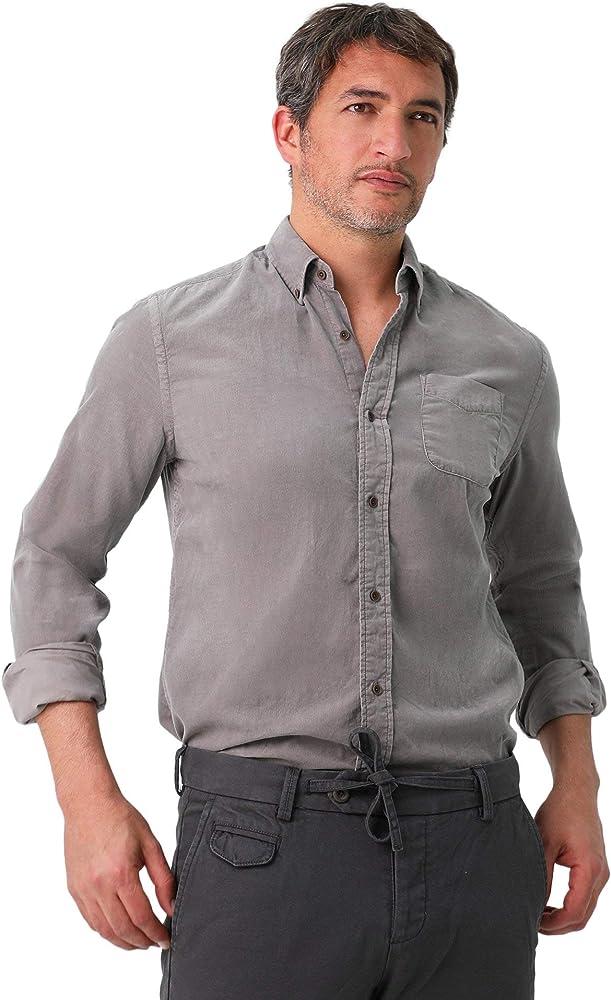 Scalpers Camisa Pana Fina Bolsillo - Taupe / 43: Amazon.es: Ropa y accesorios