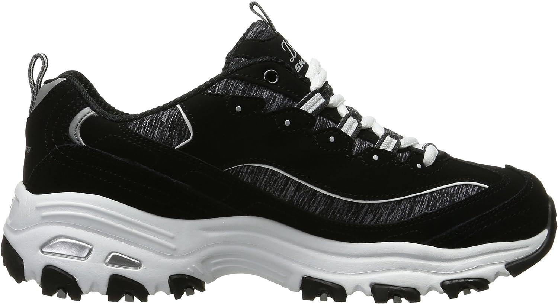 Skechers 11422 BKW D'Lites Extreme, Damen Sneaker Schwarz Schwarz Weiß