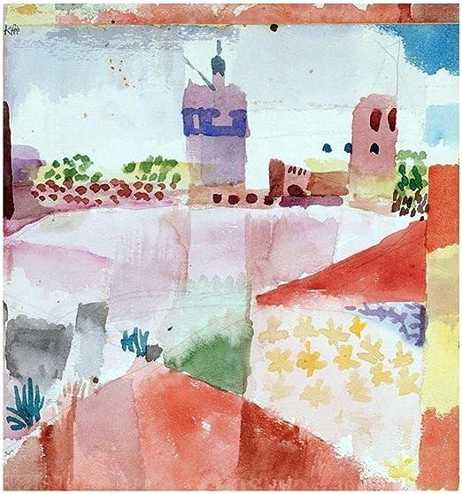 LegendArte Paul Klee Hammamet con la Sua Moschea Stampa su Tela, cm. 80x85 - Quadro su Tela, Decorazione Parete: Amazon.it: Casa e cucina