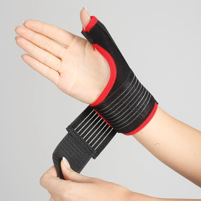 Muñequera de Armoline para inmobilizar la muñeca, agarre en zona de muñeca y dedo pulgar para tratamiento de lesiones