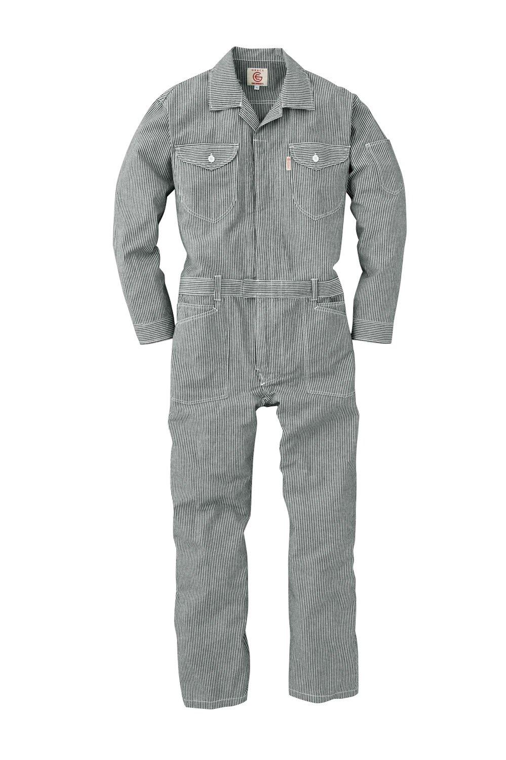 GRACE ENGINEERS GE928 20 ブラックヒッコリー 春夏用 長袖つなぎ L B00XSBNXAC ブラックヒッコリー L