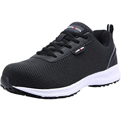 LARNMERN Steel Toe Shoes Men Safety Work Lightweight Slip Resistant Mens Breathable Sneakers Hiking Trekking Construction Outdoor Men's Shoe: Shoes